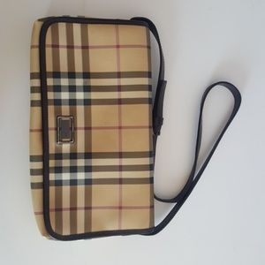 Burberry Purse Brown with Shoulder Strap